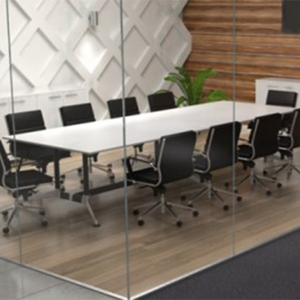 Modulus Table (Double Post) Boardroom Table