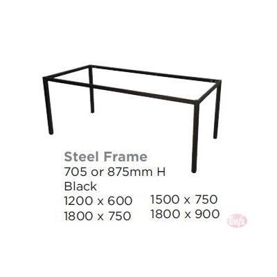 STEEL FRAME TABLE- FRAME ONLYL, 5 SIZES