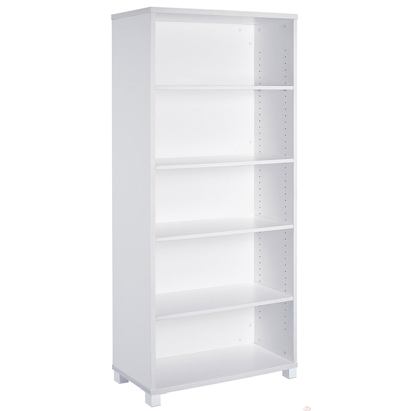 White Bookcase – 5 Tiers
