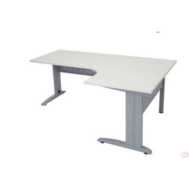 L-Shaped Height Adjustable Office Desk