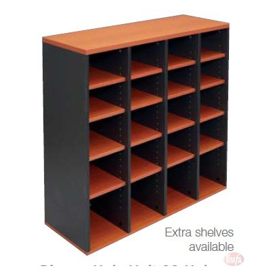PH20 PIGEON HOLE UNIT 20 HOLE, extra shelf +$5