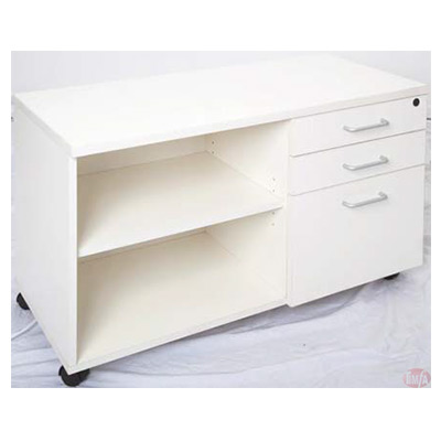 MOBILE CADDY WHITE DRAWERS LEFT or Right