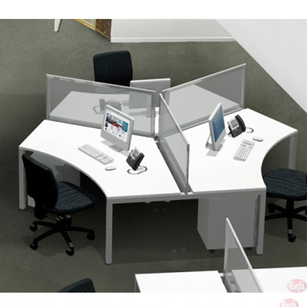 Axis Desk 120° – 3 Person Workstation
