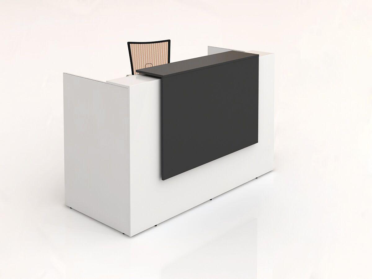 Sorrento Reception Desk (White & Charcoal)