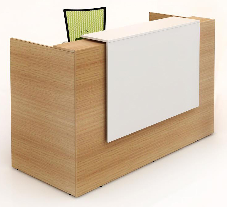 TF Reception Office Counter 1800mm Beech/White