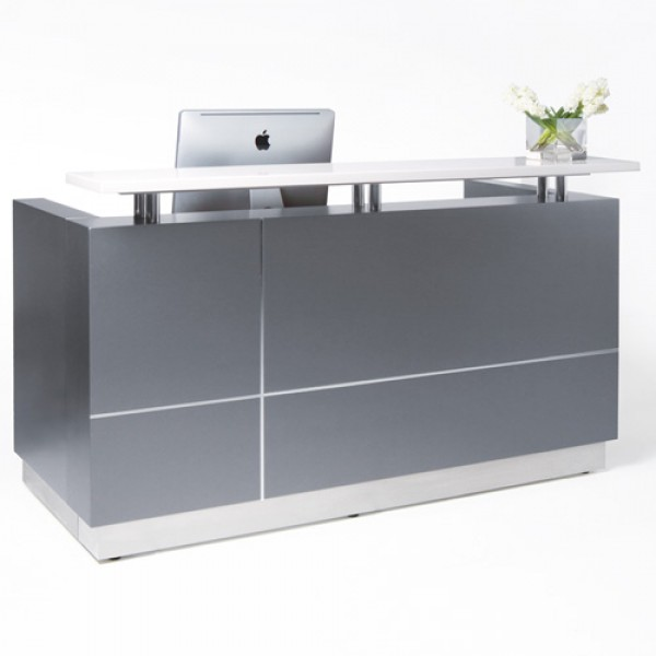 Boss Reception Counter (Metallic Grey)