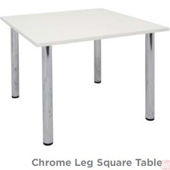 CST9 CHROME LEG SQUARE TABLE