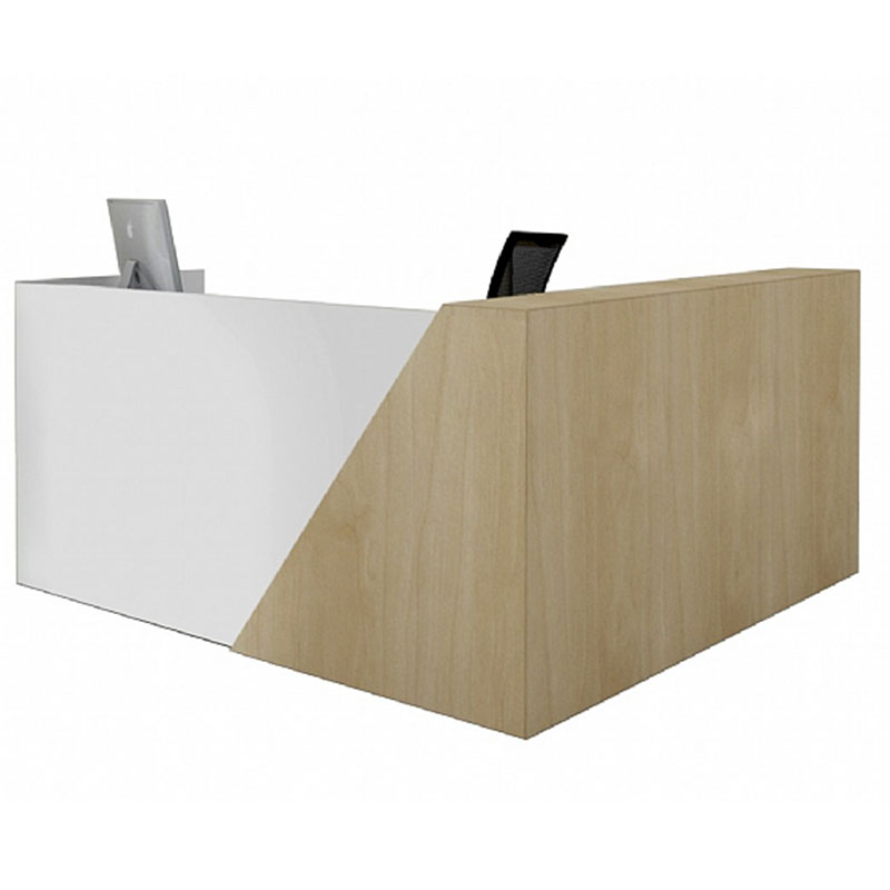 Bevel L-Shaped Reception Desk (Made to Order)