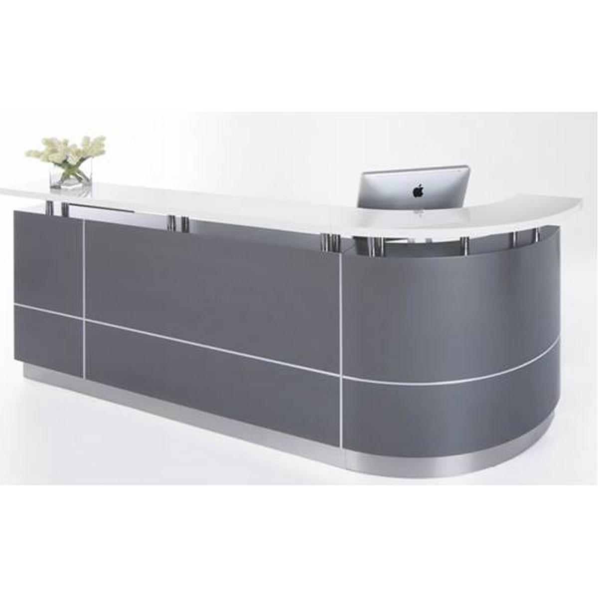 Executive J-Shape Reception Counter