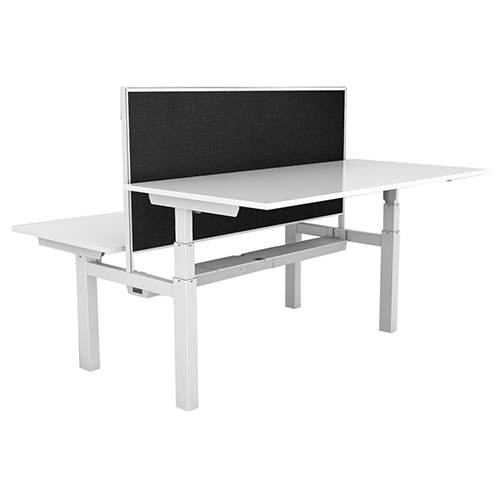 Rapid Paramount Back To Back Electric Height Adjustable Desks With Screens