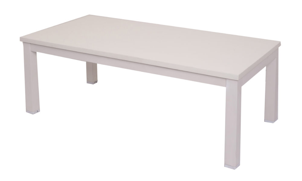 Rectangular Steel Frame Coffee Table