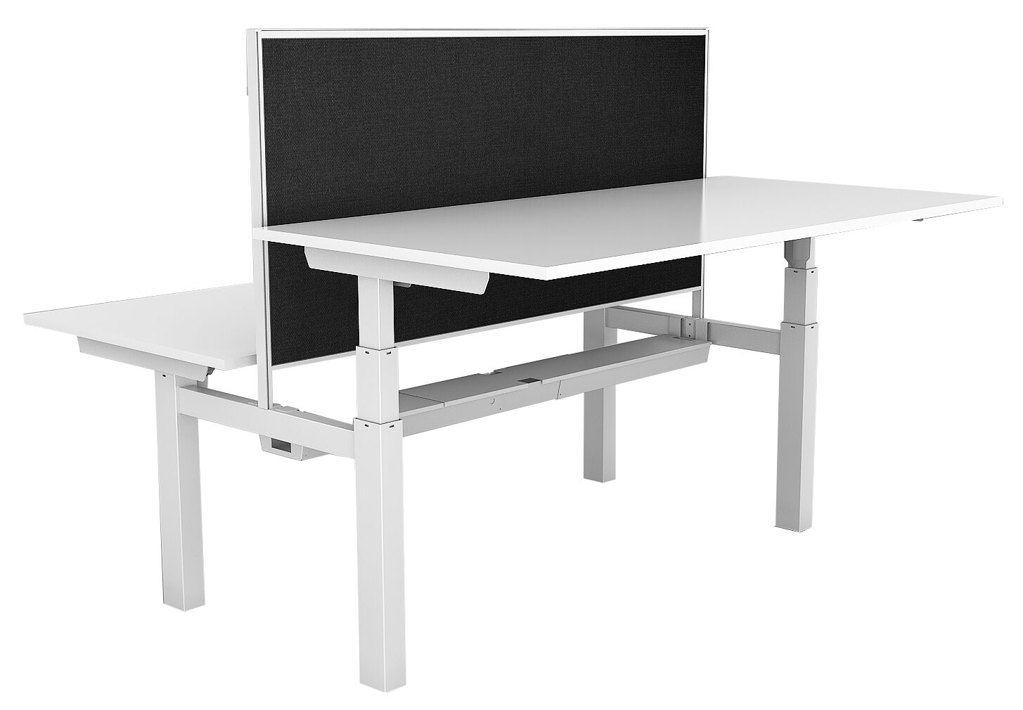 Paramount Back to Back Height Adjustable Desk With Screen