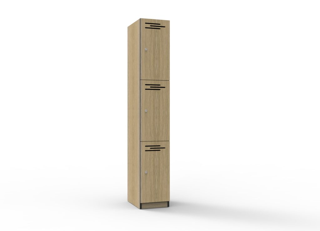 TF 3 Door Melamine Locker