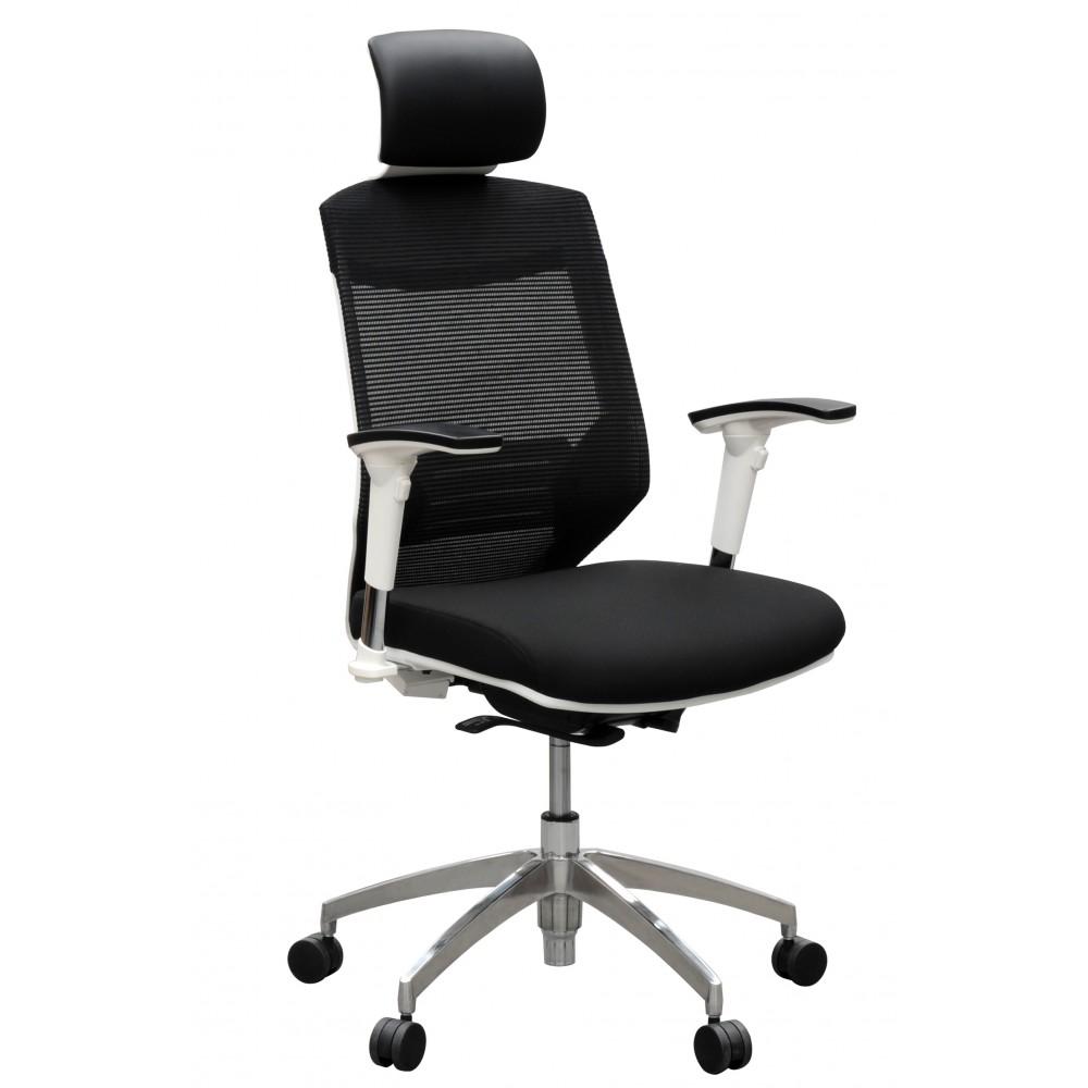 Vogue White High Back Executive Chair