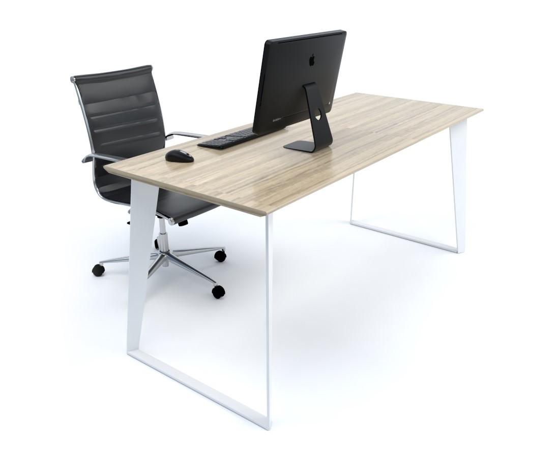 Razor Straight Desk (White Frame)