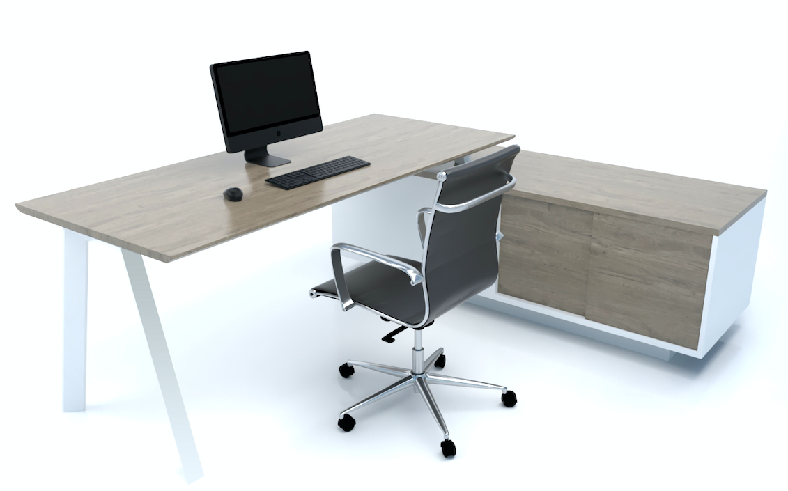 Flex Executive Desk with Credenza Return