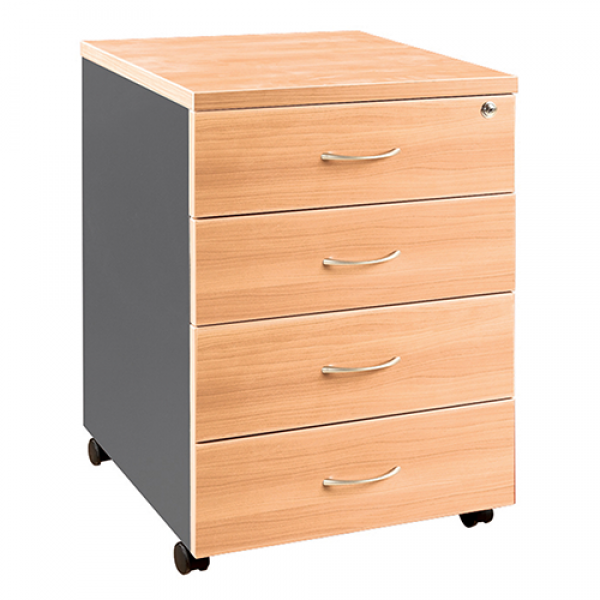 OM Mobile Pedestal (4 Personal Drawers)
