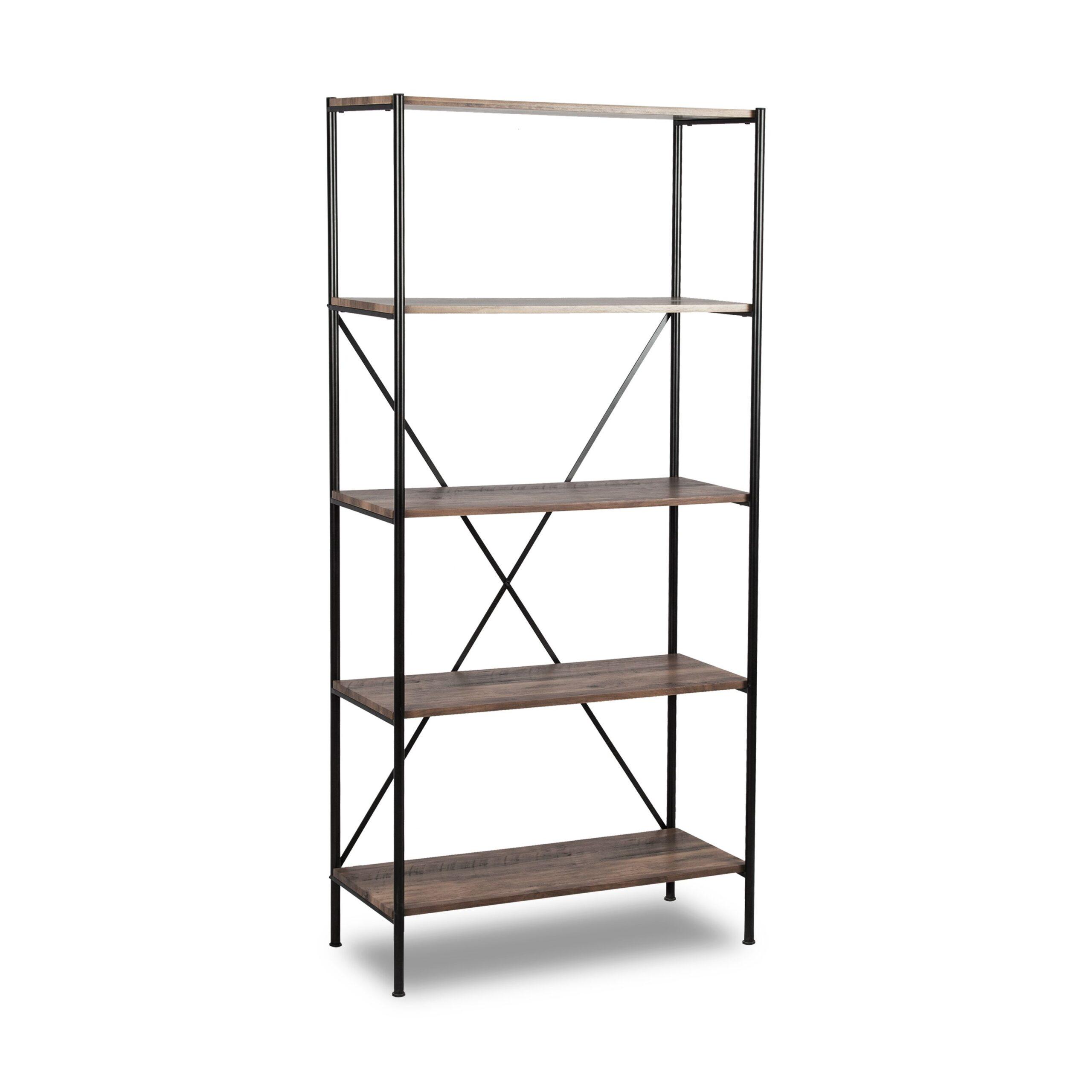 Brunei 5 Shelf Bookcase