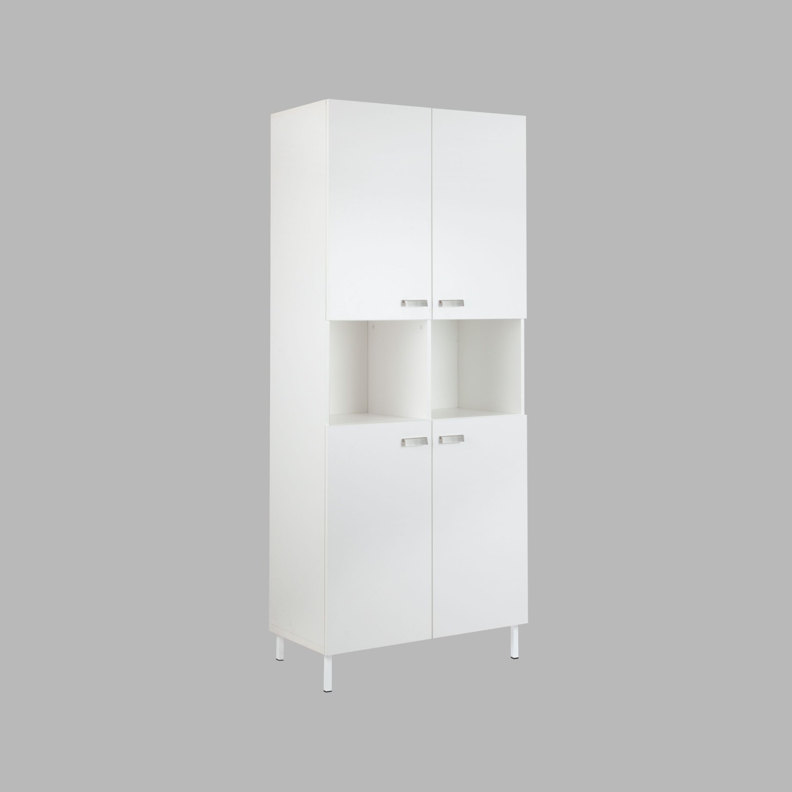 Alaska 10 Cube Bookcase With 4 Hinged Doors