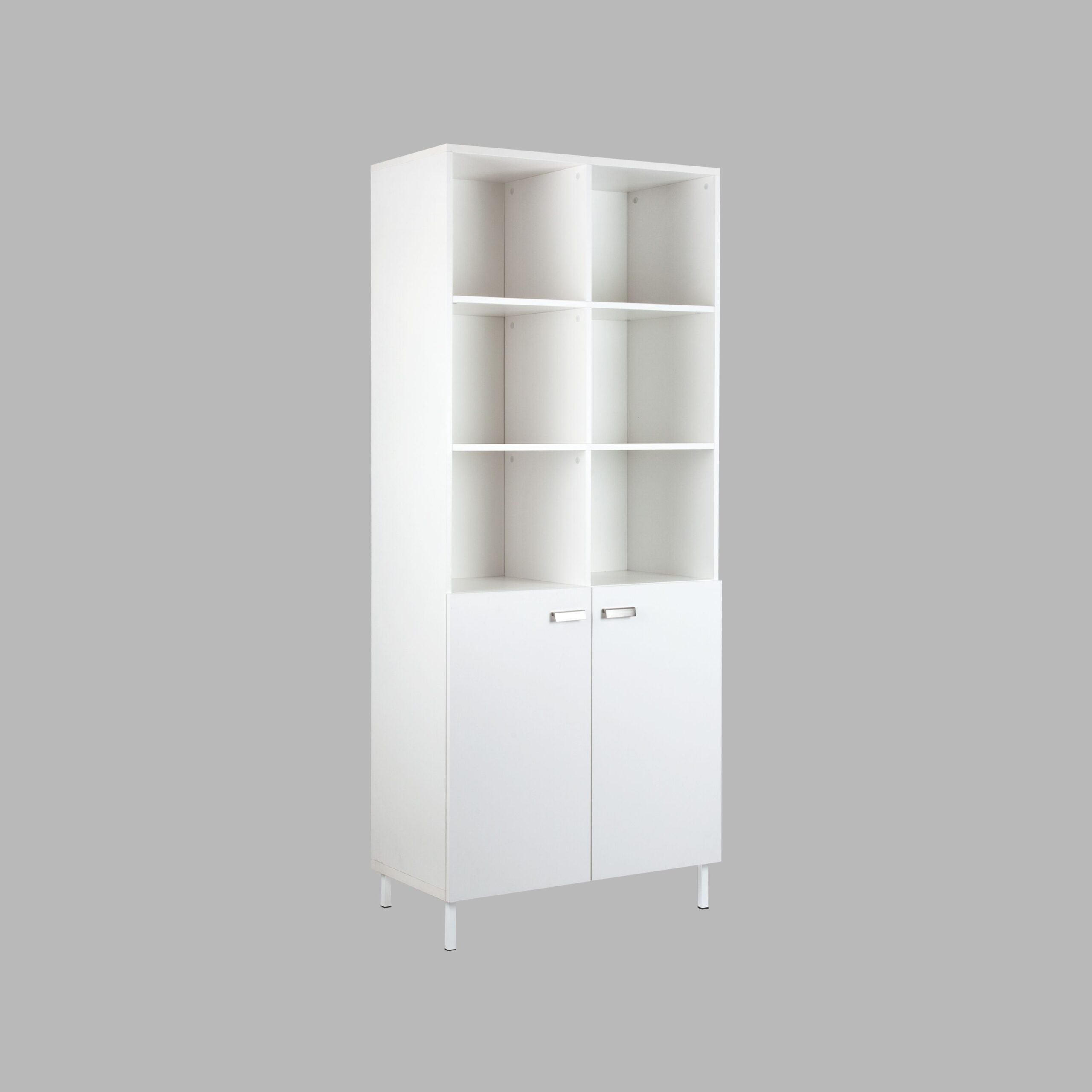 Alaska 10 Cube Bookcase With 2 Hinged Doors