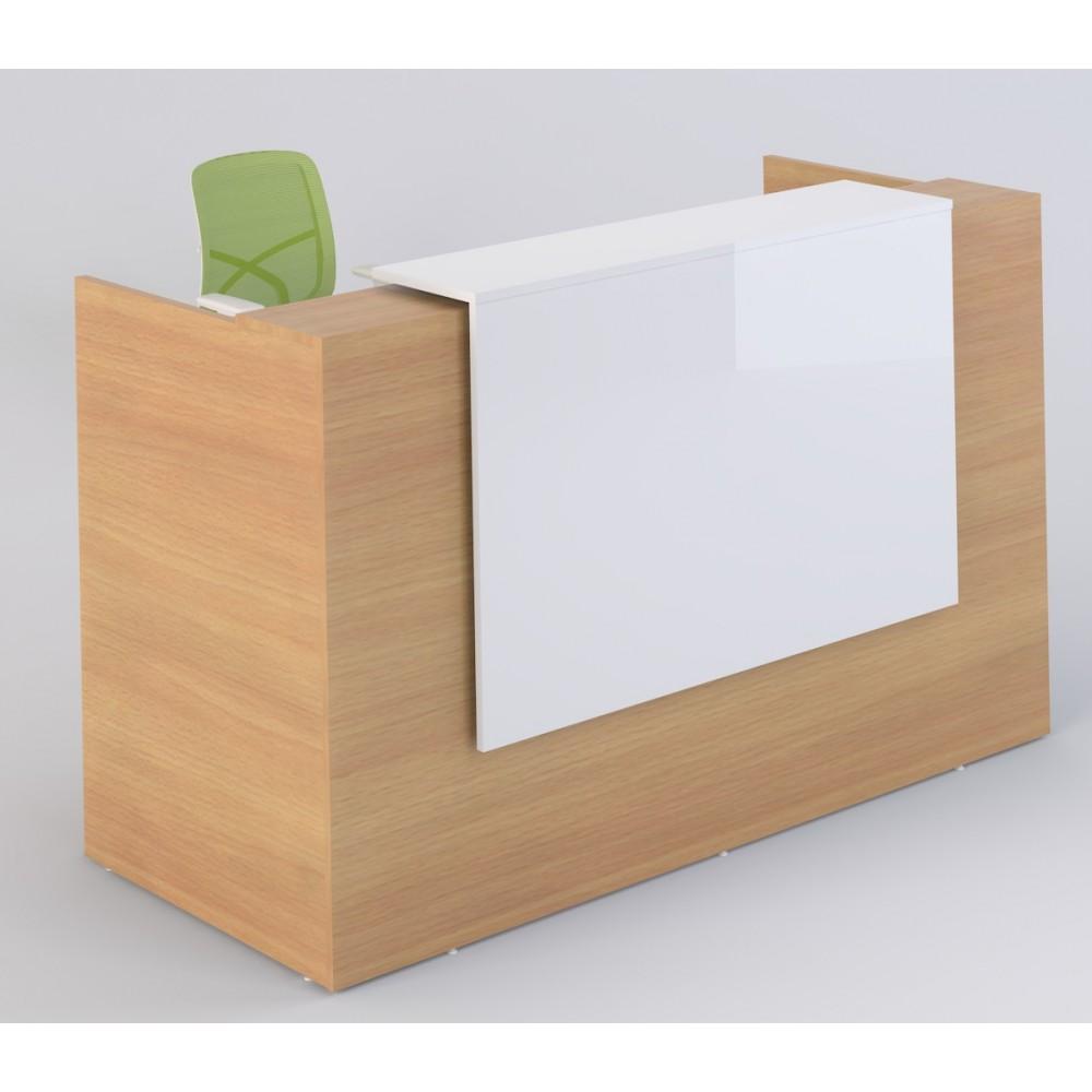 Sorrento Reception Desk (Beech & White)
