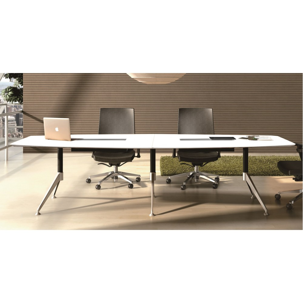 Wilson Boardroom Table 3000mmW (White 2 Pack Finish)