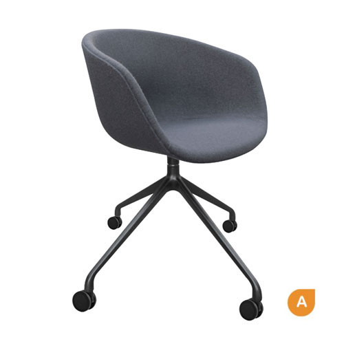 Oreo Black Arched Frame Visitor Chair