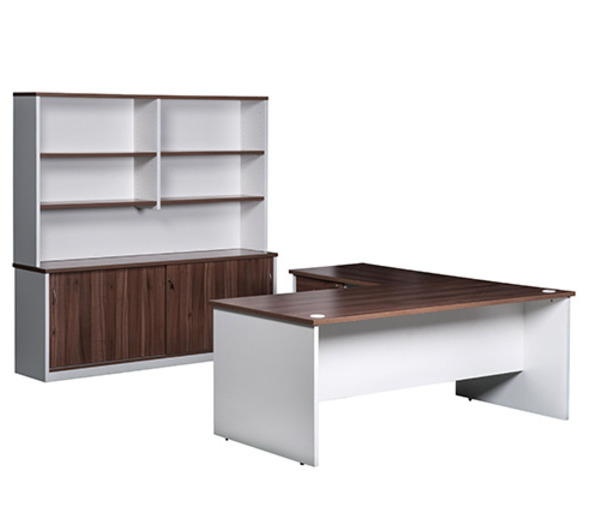 OP Office Desk with Sliding Credenza & Hutch Package