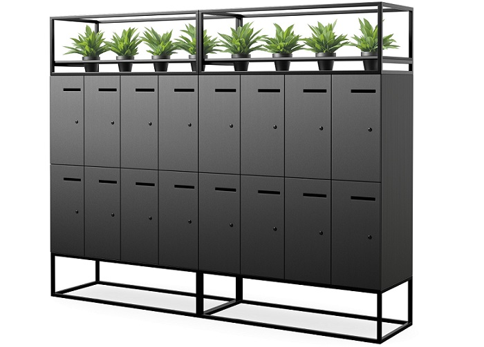 Breezeway Melamine Locker Unit With Welded Garden Bed