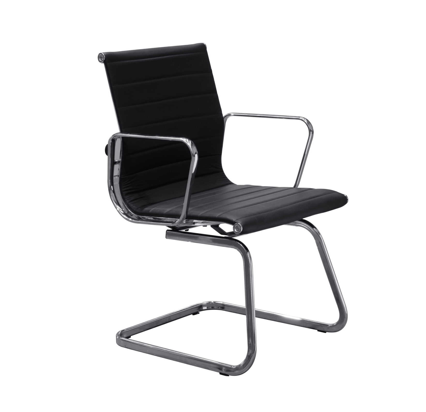Milano Genuine Leather Cantilever Visitor Chair
