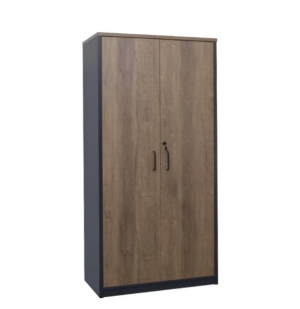Regal Walnut Lockable Full Cupboard with Adjustable Shelves