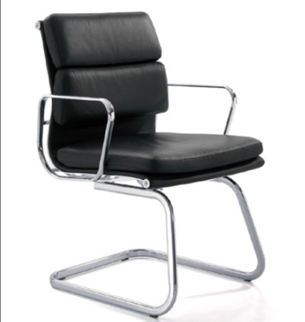 Manta Genuine Leather Cantilever Chair